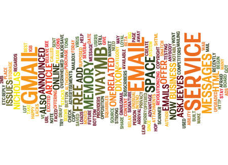 ve: YOU VE GOT MAIL Text Background Word Cloud Concept