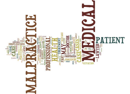 MEDICAL MALPRACTICE DEFINED Text Background Word Cloud Concept