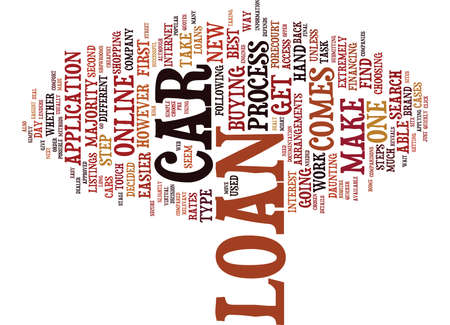 THE CAR LOAN PROCESS Text Background Word Cloud Concept