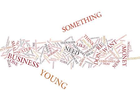 YOUNG ENTREPRENEURS Text Background Word Cloud Concept Иллюстрация
