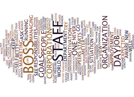 YOU VE BEEN NAMED BOSS NOW WHAT Text Background Word Cloud Concept