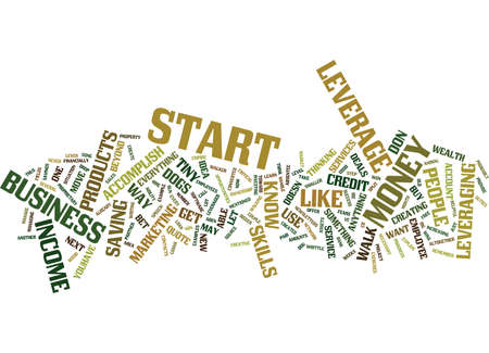 LEVERAGE IS THE ONLY WAY TO WEALTH Text Background Word Cloud Concept