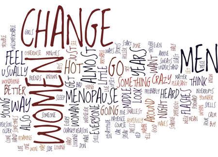 THE CHANGE Text Background Word Cloud Concept Ilustração