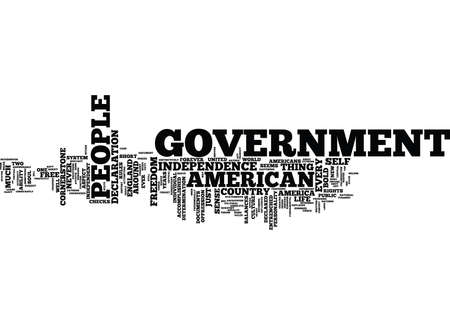 THE CORNERSTONE OF GOVERNMENT Text Background Word Cloud Concept