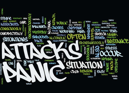 THE CAUSE OF PANIC ATTACKS Text Background Word Cloud Concept