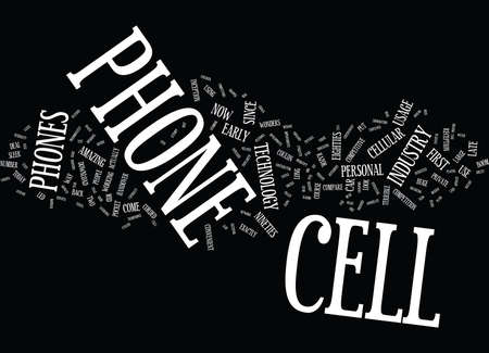 immensely: THE CELL PHONE Text Background Word Cloud Concept