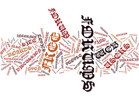 THE CONCEPT OF A FREE WEB FORUM Text Background Word Cloud Concept