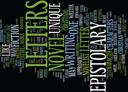 THE BANNED NARRATOR ARE YOU AN EPISTOLARY NOVELIST Text Background Word Cloud Concept