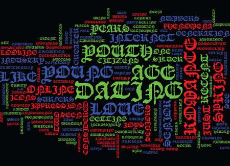 若い愛テキストの背景単語雲概念