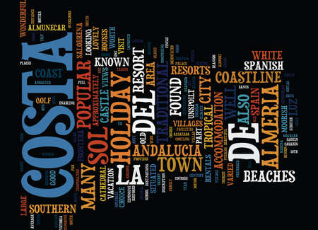 THE COSTAS OF ANDALUCIA Text Background word cloud concept