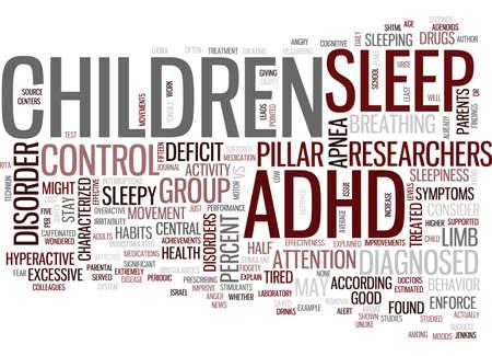 UW ADHD-KIND KAN SLECHTS VERMOEID WORDEN Tekstachtergrond Word Cloud Concept