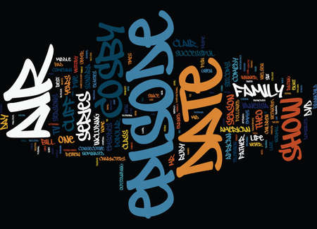 THE COSBY SHOW DVD REVIEW Text Background Word Cloud Concept