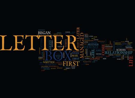 LETTER BOX Text Background Word Cloud Concept Illustration