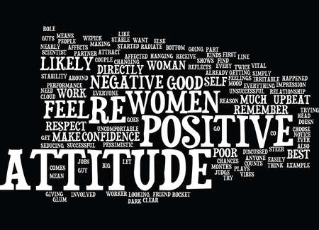 YOUR ATTITUDE COUNTS Text Background Word Cloud Concept