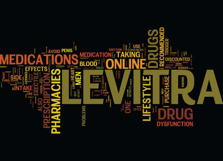 LEVITRA DRUG Text Background Word Cloud Concept