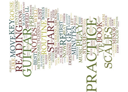 YOUR BEST GUITAR PRACTICE ROUTINE Text Background Word Cloud Concept