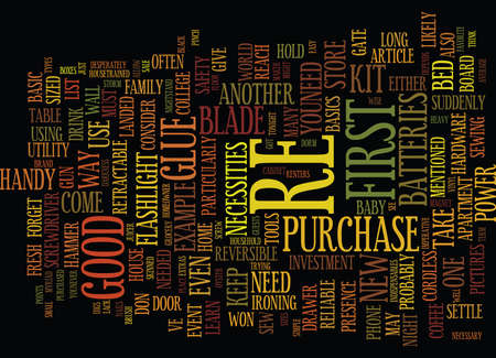 THE BARE NECESSITIES Text Background Word Cloud Concept