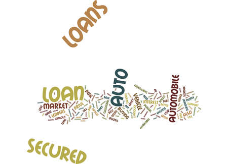 LETS YOU DRIVE YOUR WAY SECURED AUTO LOAN Text Background Word Cloud Concept