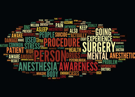 LIKE A LAMB TO THE SLAUGHTER ANESTHESIA AWARENESS Text Background Word Cloud Concept