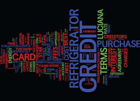 THE COST OF CREDIT Text Background Word Cloud Concept