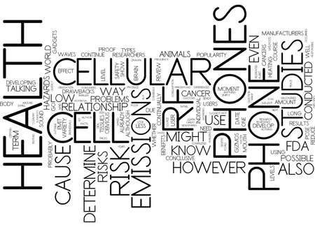 THE CELL PHONE FACTS YOU NEED TO KNOW Text Background Word Cloud Concept