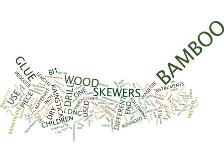THE BAMBOO RAINSTICK Text Background Word Cloud Concept
