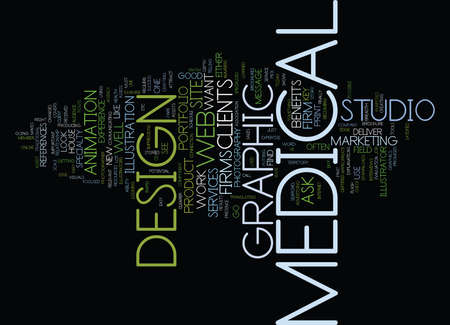 MEDICAL GRAPHIC DESIGN Text Background Word Cloud Concept