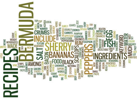 BERMUDA RESORTS Text Background Word Cloud Concept