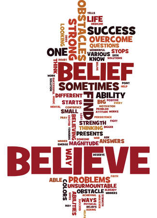 BELIEF DESIGNED FOR LIFE Text Background Word Cloud Concept