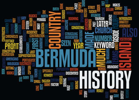 BERMUDA HOTELS Text Background Word Cloud Concept