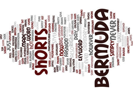 BERMUDA TRAVELS Text Background Word Cloud Concept