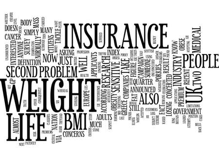 LIFE INSURANCE FAT CUSTOMERS TELL PORKIES Text Background Word Cloud Concept