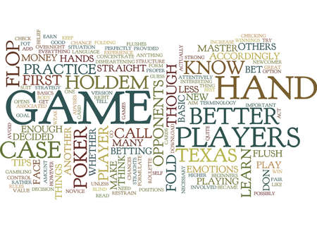 BEGINNERS TOURNAMENT TIPS Text Background Word Cloud Concept Illustration