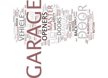 LIFT MASTER GARAGE DOOR OPENERS Text Background Word Cloud Concept