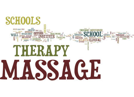 MASSAGE THERAPY SCHOOLS Text Background Word Cloud Concept