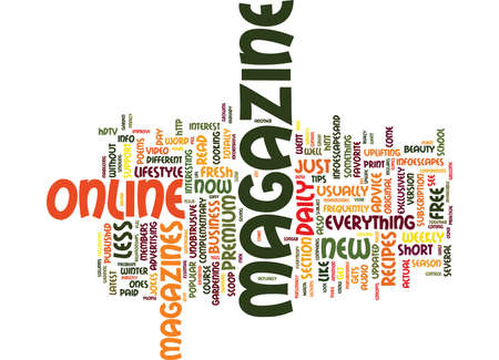 LIFESTYLE HOW TO MAGAZINES Text Background Word Cloud Concept Illustration