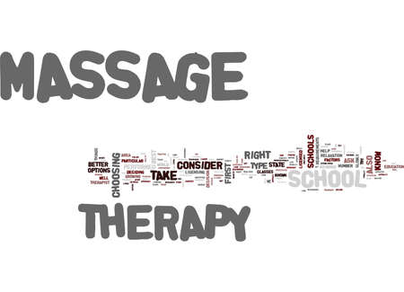 MASSAGE THERAPY SCHOOL Text Background Word Cloud Concept Ilustrace