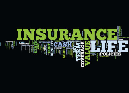 LIFE INSURANCE COVERAGE Text Background Word Cloud Concept