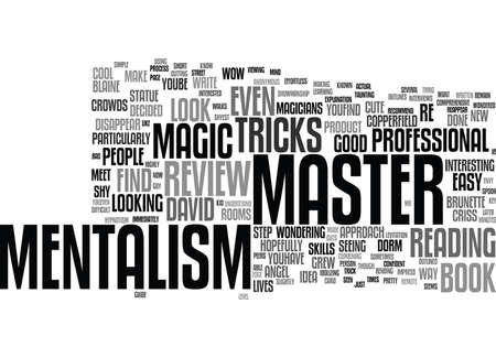 MASTER MENTALISM REVIEW GOOD OR BAD Text Background Word Cloud Concept