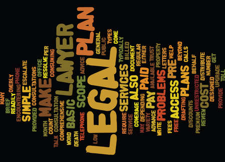 THE ACCESS LEGAL PLAN Text Background Word Cloud Concept Illustration