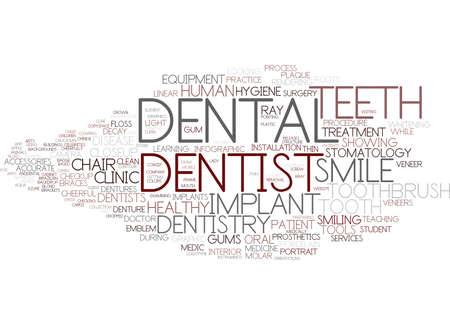 dental word cloud concept
