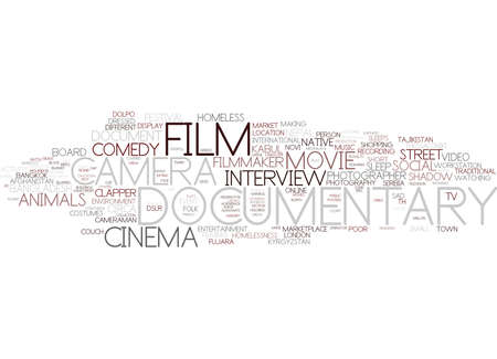 Concept de nuage de mots documentaire Banque d'images - 83367288