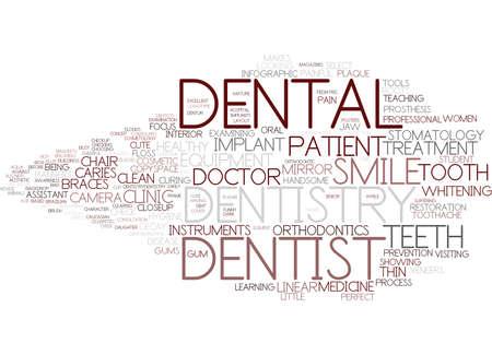 tandheelkunde woord wolk concept Stock Illustratie