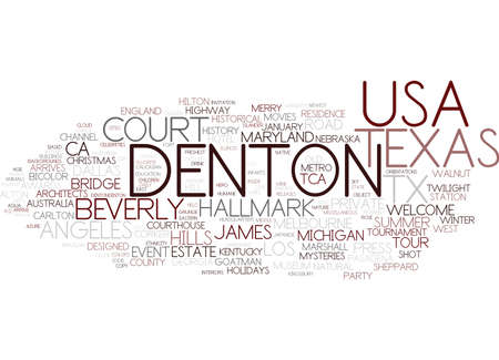 denton word cloud concept Çizim
