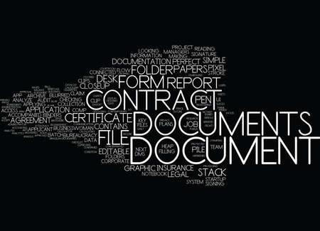 documents word cloud concept
