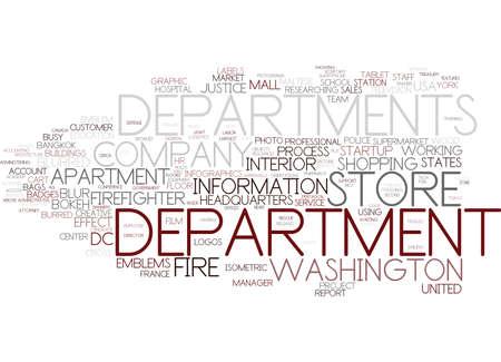 department word cloud concept