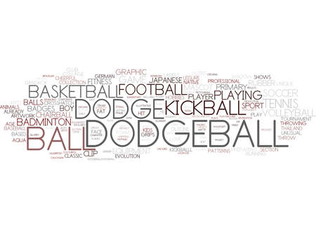 dodgeball word cloud concept