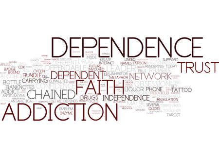 dependence word cloud concept