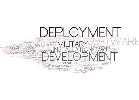 deployment word cloud concept