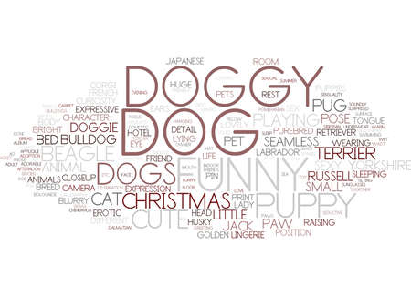 doggy word cloud concept Stock Illustratie